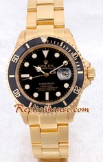 Rolex Submariner Gold Black Face