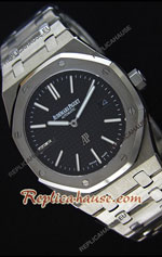 Audemars Piguet Royal Oak Stainless Steel Black Swiss Watch 16
