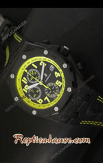 Audemars Piguet Royal Oak Offshore Forged Carbon Swiss Watch 12
