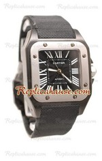 Cartier Santos 100 Carbon Swiss Watch 01