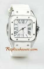 Cartier Santos 100 Swiss Replica Watch Ladies 10