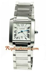 Cartier Tank Mens Swiss Replica Watch 01