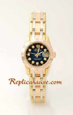 Rolex Replica DateJust - Three Tone Lady 2