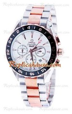 Omega Seamaster Aqua Terra GMT Chronograph Replica Watch 01