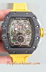 Richard Mille RM011-03 One Piece Black Forged Carbon Case Swiss Replica Watch 01
