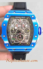 Richard Mille RM011-03 One Piece Black Forged Carbon Case Swiss Replica Watch 02