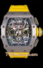 Richard Mille RM011-03 One Piece Black Forged Carbon Case Swiss Replica Watch 03
