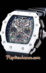 Richard Mille RM011-03 One Piece Black Forged Ceramic Case Swiss Replica Watch 04
