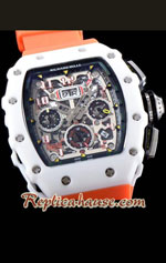 Richard Mille RM011-03 One Piece Black Forged Ceramic Case Swiss Replica Watch 05