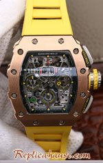 Richard Mille RM011-03 One Piece Black Forged Gold Case Swiss Replica Watch 06