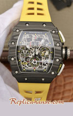 Richard Mille RM011-03 One Piece Black Forged Carbon Case Swiss Replica Watch 08