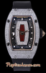Richard Mille RM07-01 Full Diamonds Red Ladies Swiss Replica Watch 03
