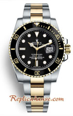 Rolex Submariner Two Tone Black Dial Swiss 2018 Edition Replica Watch 2