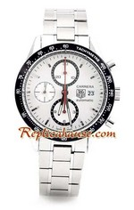 Tag Heuer Carrera Swiss White Dial Replica Watch 01