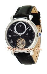 Vacheron Constantin Tourbillon Automatic with White Dial-Leather Strap 2012 Watch 2