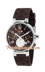 Louis Vuitton Tambour Automatic Chronograph Lady Watch 04
