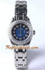 Rolex Replica Datejust Celini - Dark Blue diamonds