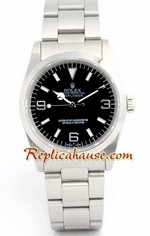 Rolex Explorer Black Face Mens