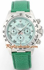 Rolex Daytona Green Leather Ladies