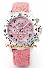 Rolex Daytona Pink Leather Ladies