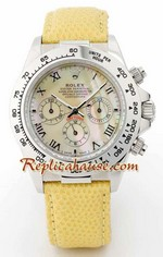 Rolex Daytona Yellow Leather Ladies