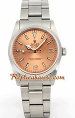 Rolex Explorer Pink Face Mens